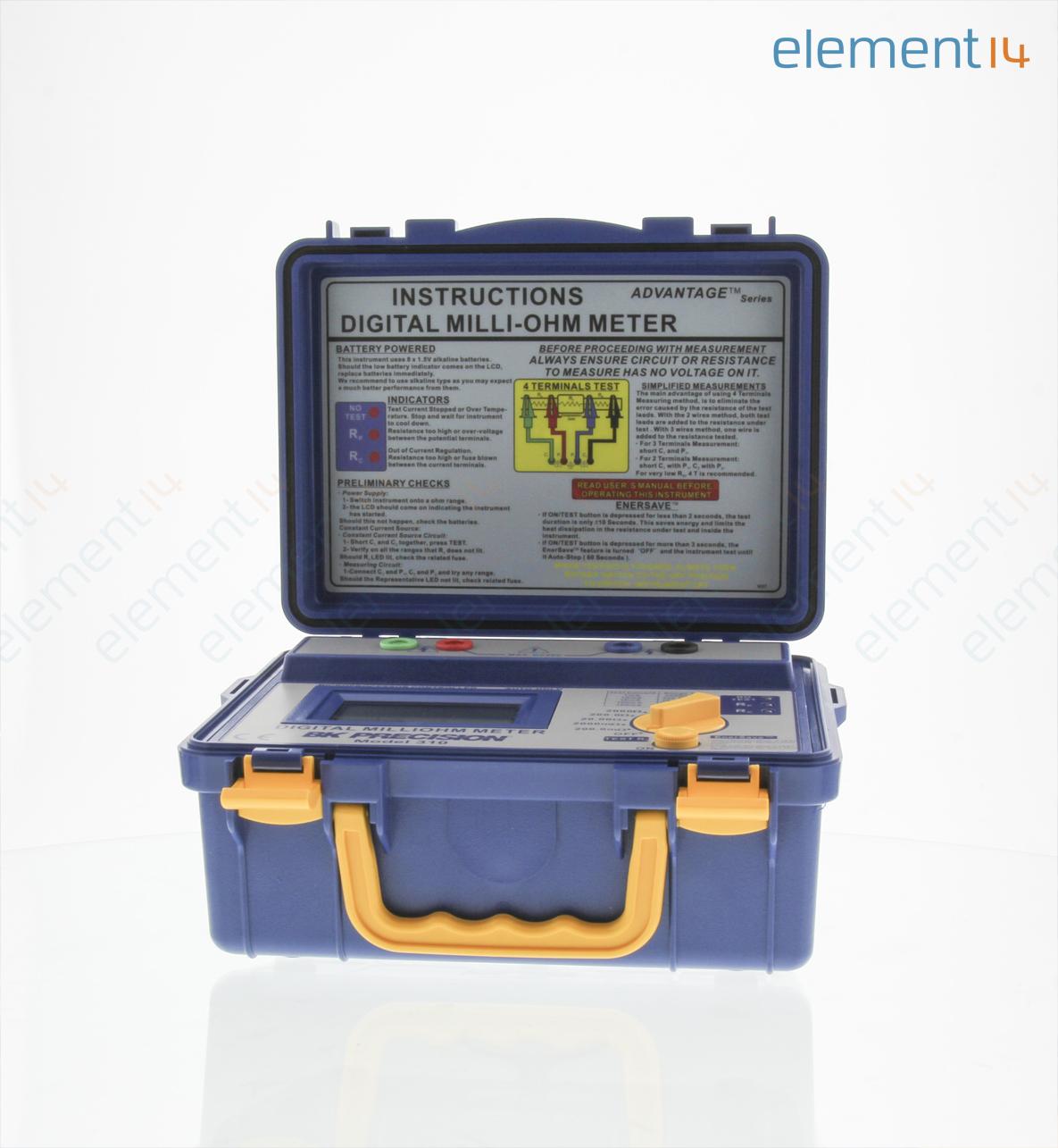 4 Wire Ohmmeter : B k precision ohmmeter digital milli wire