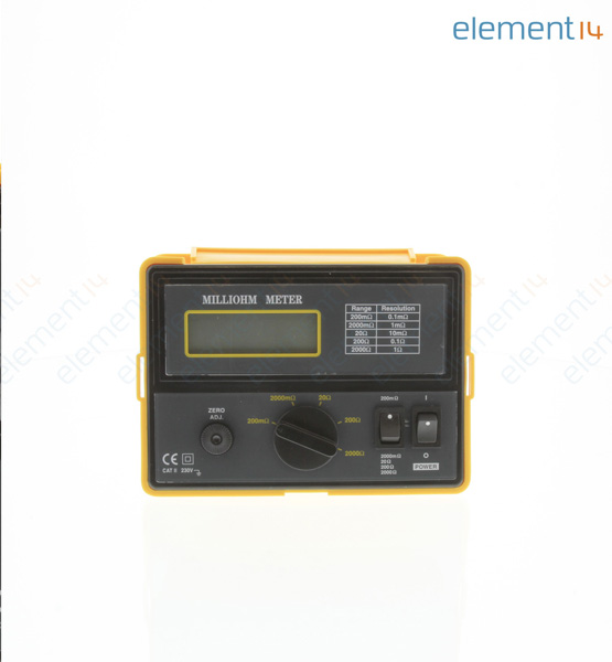 4 Wire Ohmmeter : Extech instruments ohmmeter milli wire