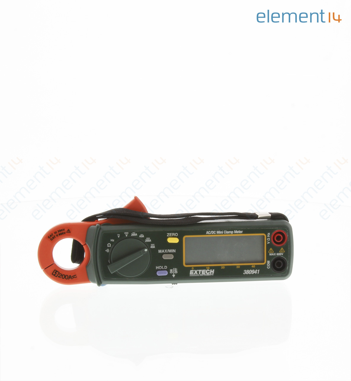 380941 Extech Instruments Clamp Meter Ac Dc Current Voltage And Circuits Frequency Resistance 200 A 400 V Ohm
