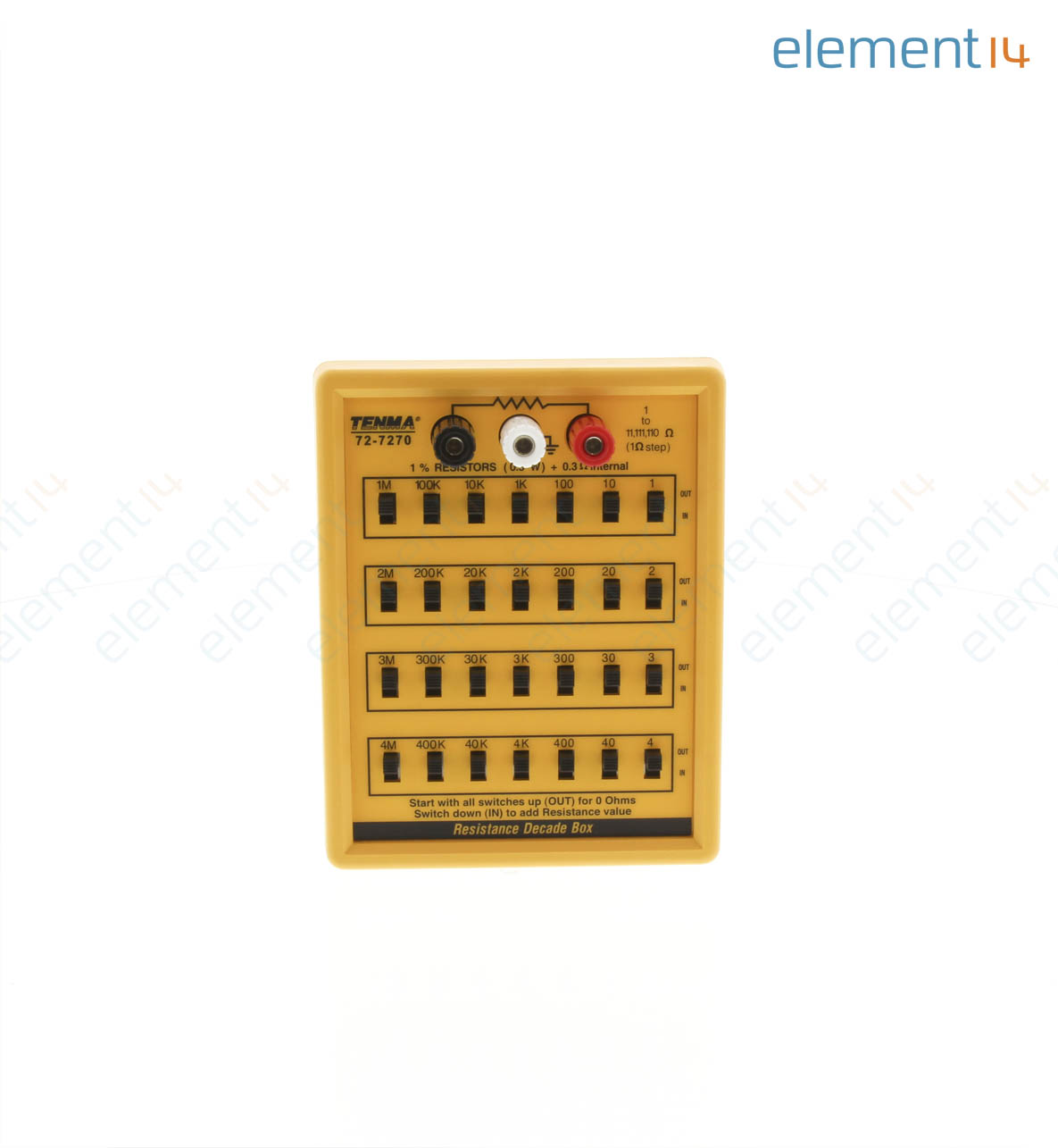 72 7270 Tenma Decade Box Resistance 7 Electronics Learning Circuits Webonly Products Technology Add To Compare
