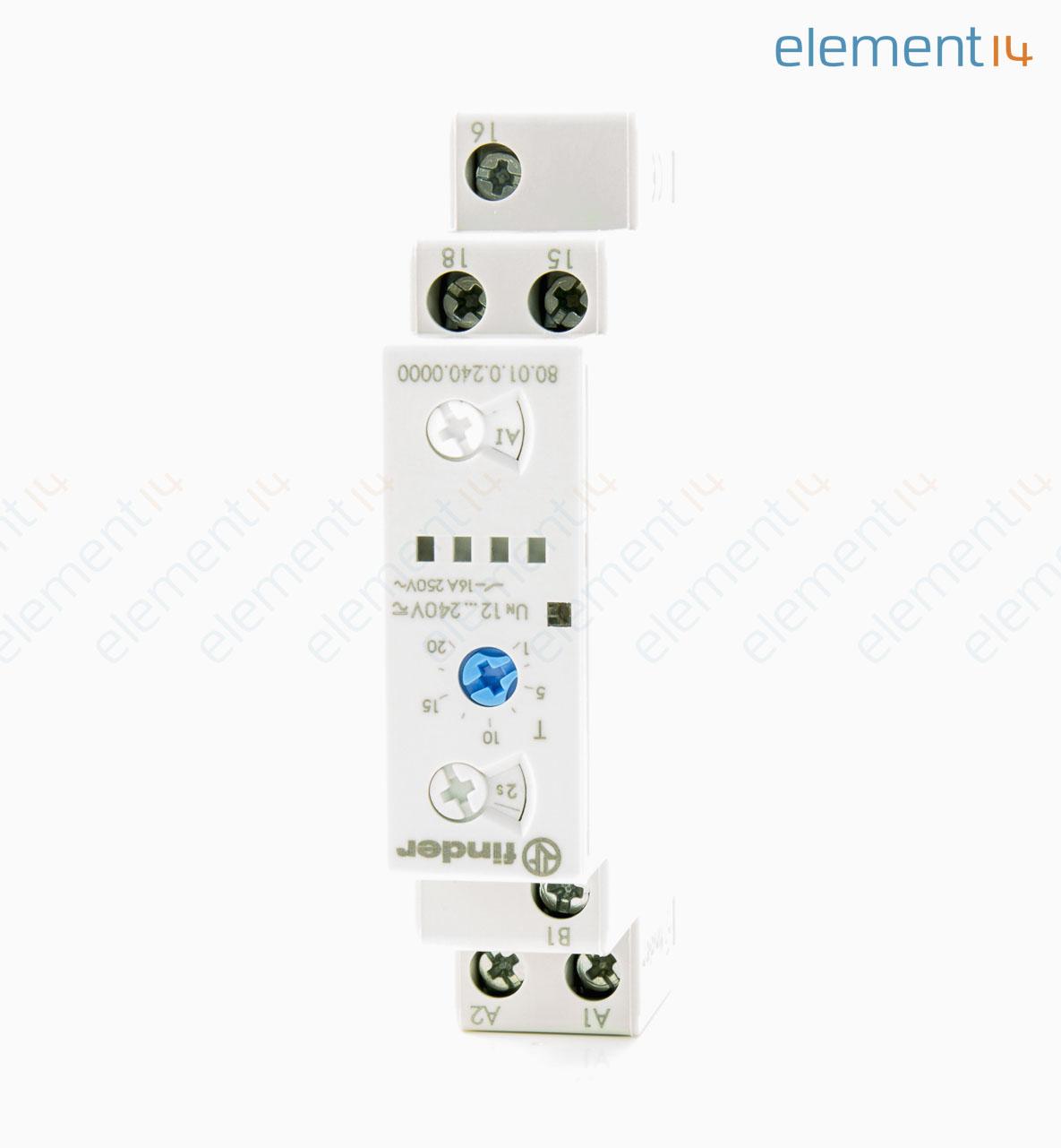 800102400000 Finder Analogue Timer 80 Series Multifunction Circuit Breaker Interface Units
