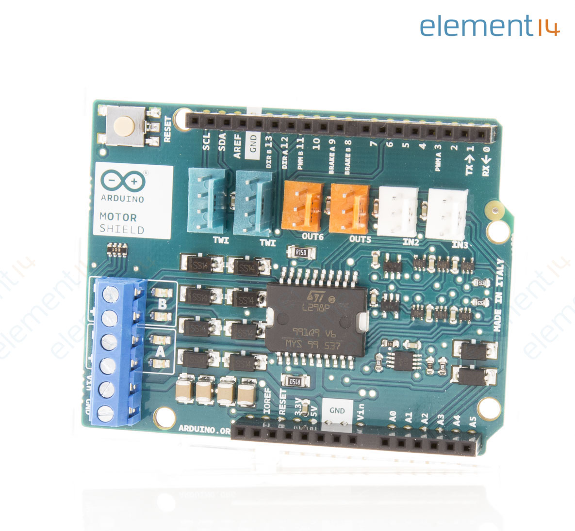 A000079 Arduino Development Board Motor Shield L298 Dual H Bridge Circuit Diagram Add To Compare