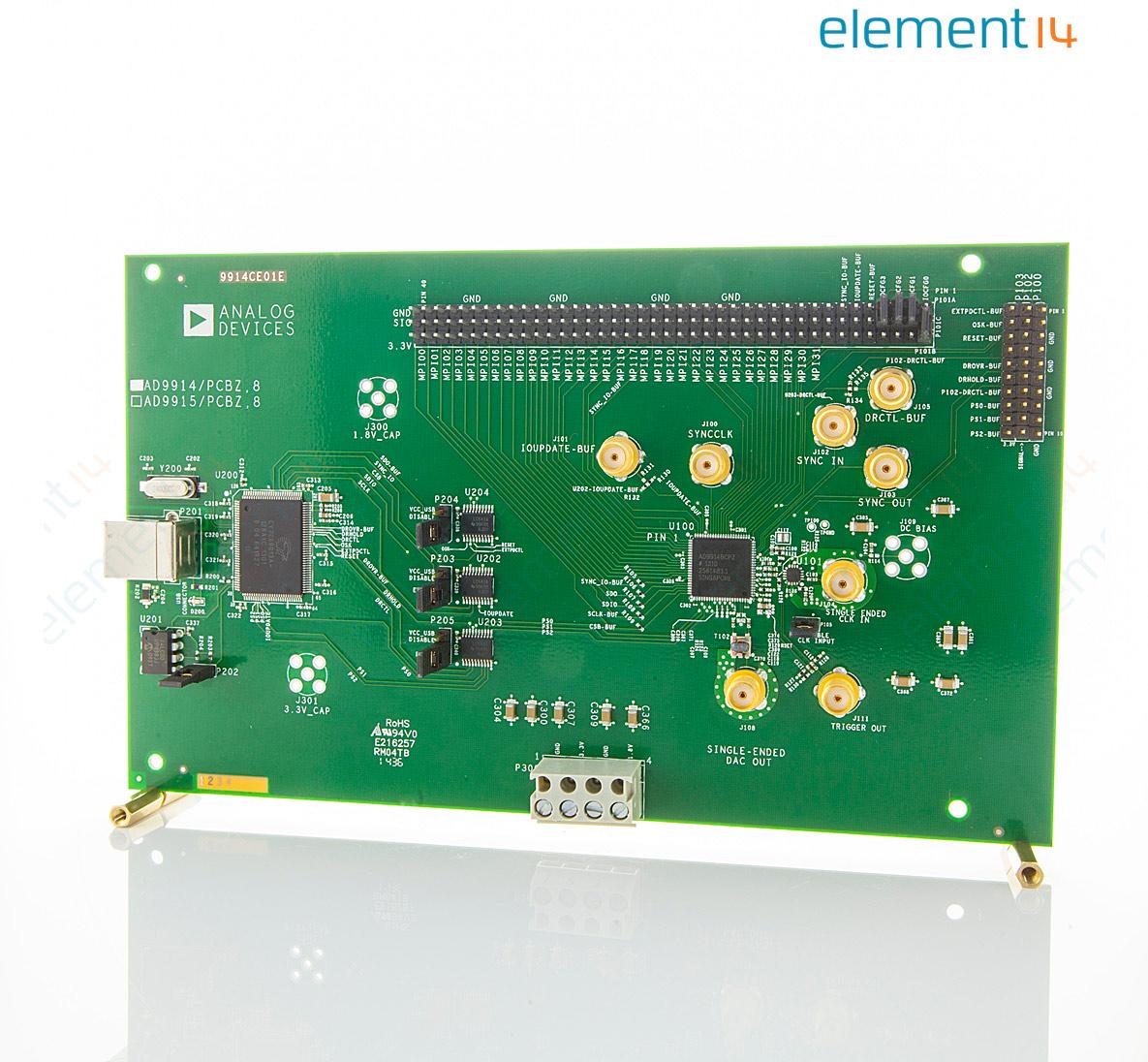analog devices ad9914/pcbz 评估板, 直接数字合成器, 带上变频器