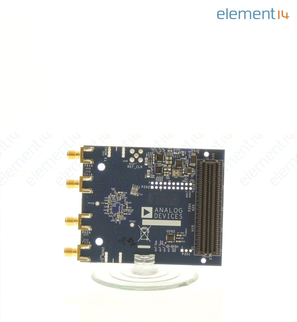 Evaluation Board, AD9361 2x2 Highly Integrated RF Transceiver, 70 MHz - 6  GHz, FMC Connector
