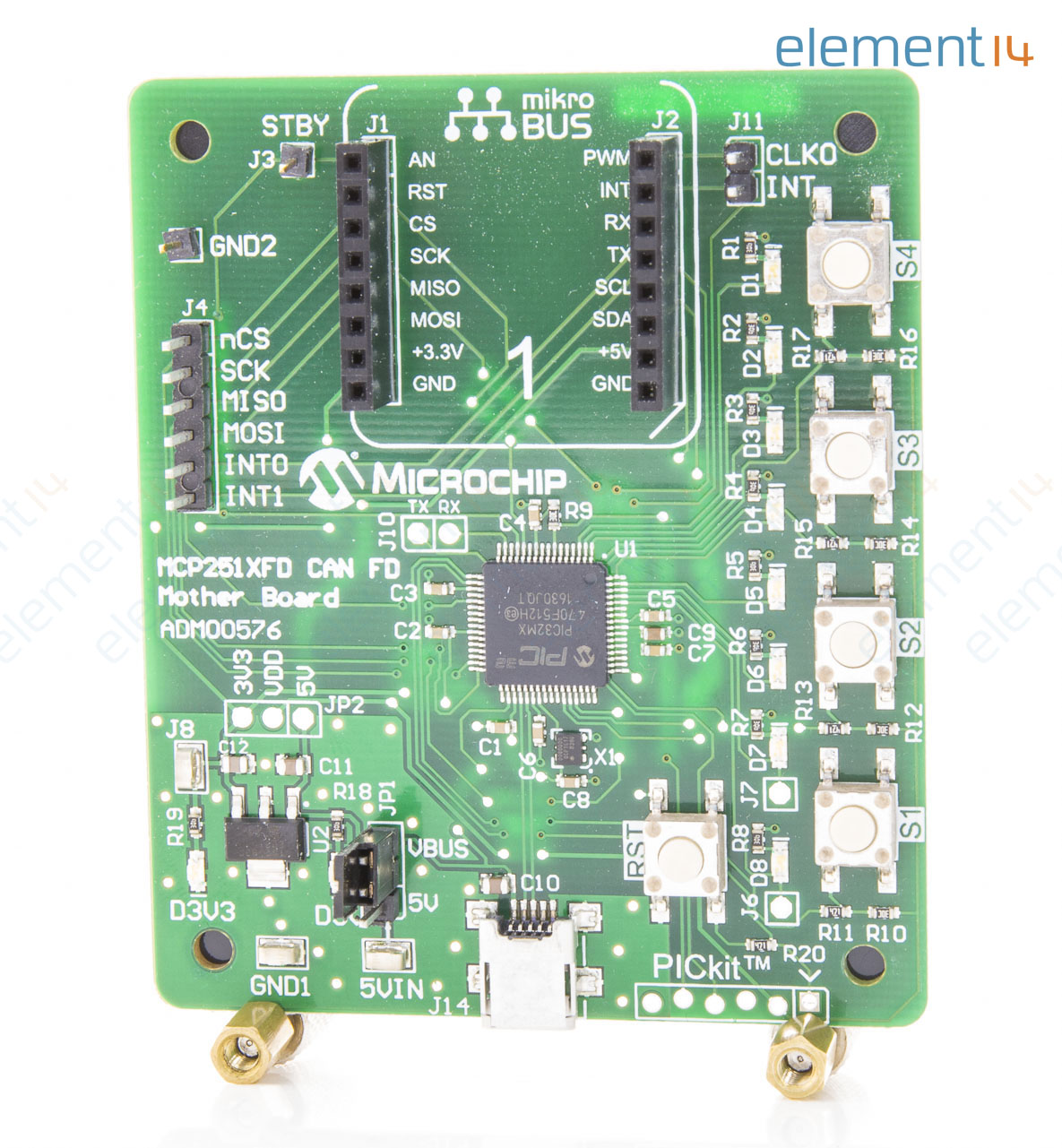 Evaluation Board, MCP2517FD Family CAN FD Controllers, mikroBUS Socket