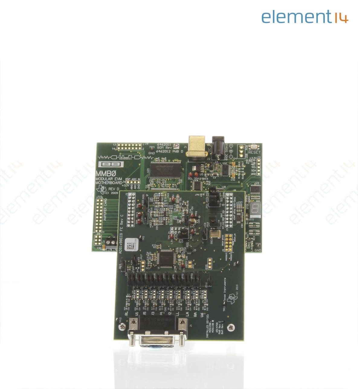 Performance Demonstration Kit, ADS1298 24-Bit Analog to Digital Converter,  ECG Front End