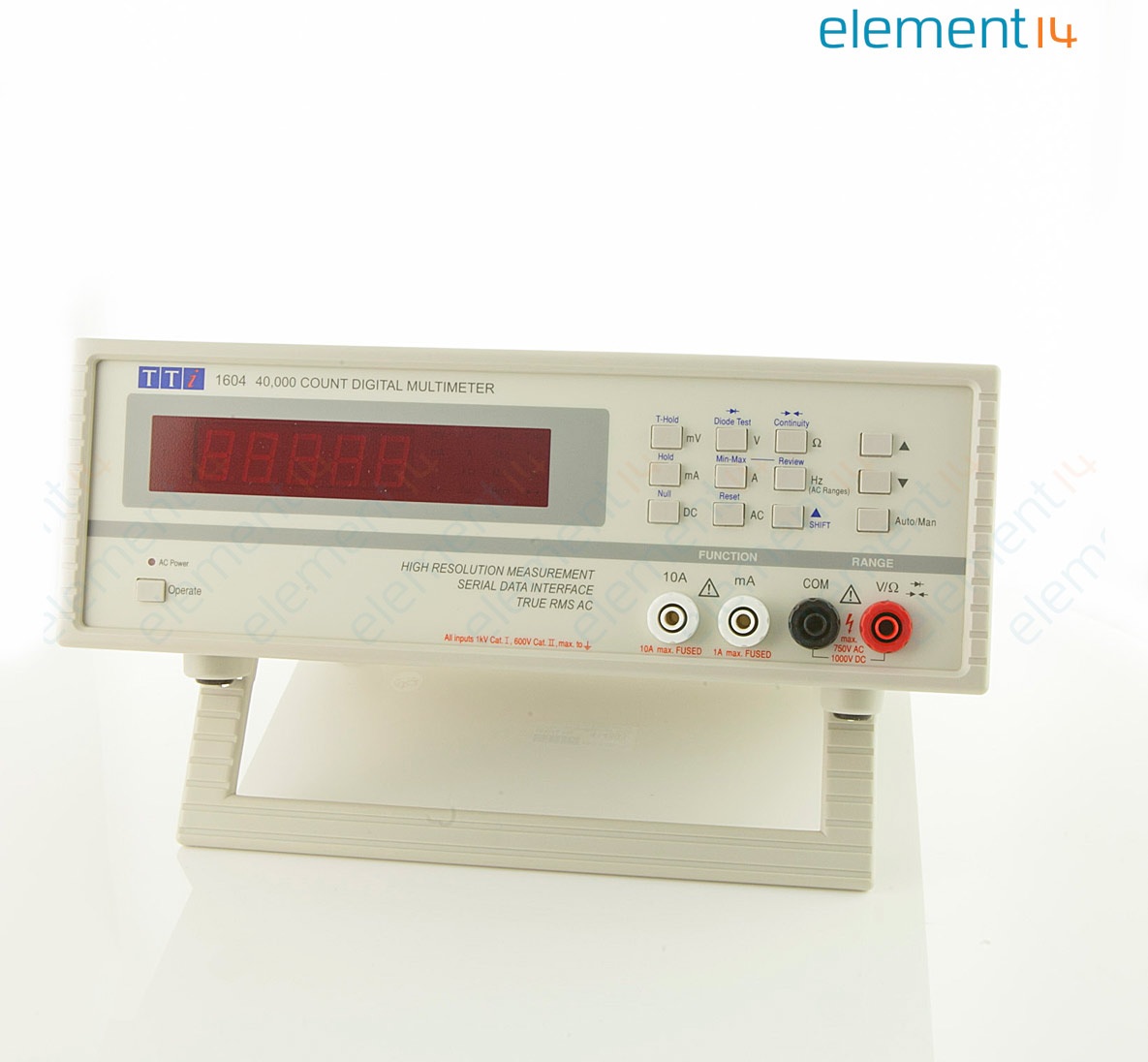 Dmm1604 Aim Tti Instruments Bench Digital Multimeter 1604 Series 40000 Count True Rms Auto