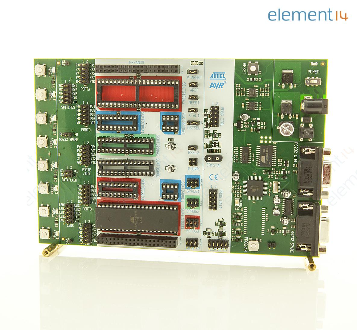 Atstk500 Microchip Development Kit Avr Flash Mcus Rs232 Atmel Mcu Family Expanded