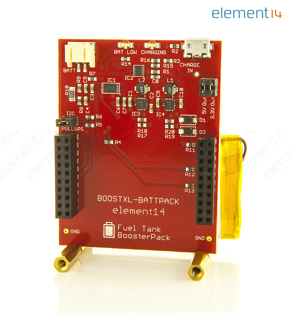 Boostxl Battpack Element14 Li Po Battery Booster Pack For Launchpad Electronics Learning Circuits Webonly Products Technology Add To Compare