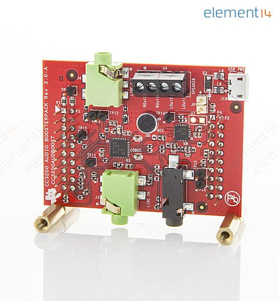 texas instruments cc3200audboost 开发板, cc3200, 无线音频助推器