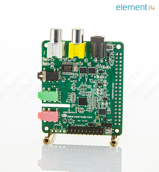 CIRRUS LOGIC AUDIO CARD - Daughter Board, Cirrus Logic Audio Card, For  Raspberry Pi, Stereo Digital Input & Output
