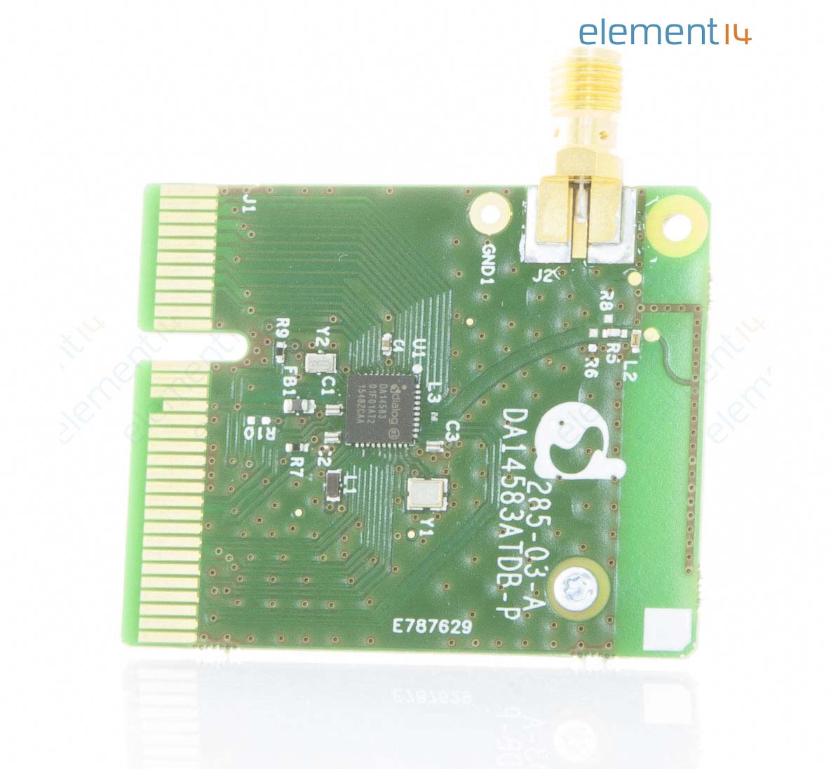 Daughter Board, DA14583 SoC, Bluetooth v4 2 with Flash Memory, For DA14580  Dev Kit Pto