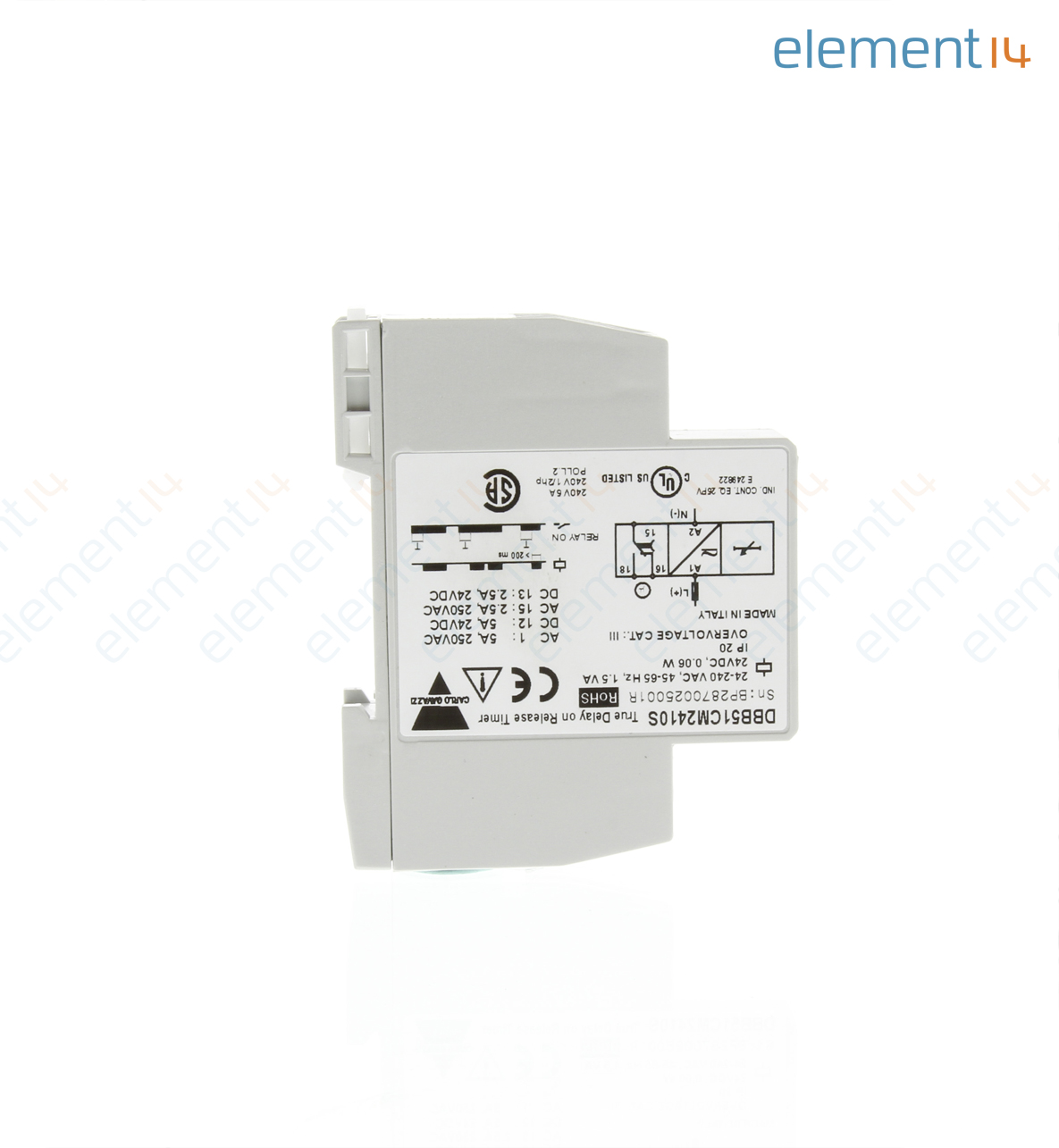 Dbb51cm2410s Carlo Gavazzi Analog Timer Dbb51 Series Delay On Power Changeover Relay Release 6 S 60 1 Ranges