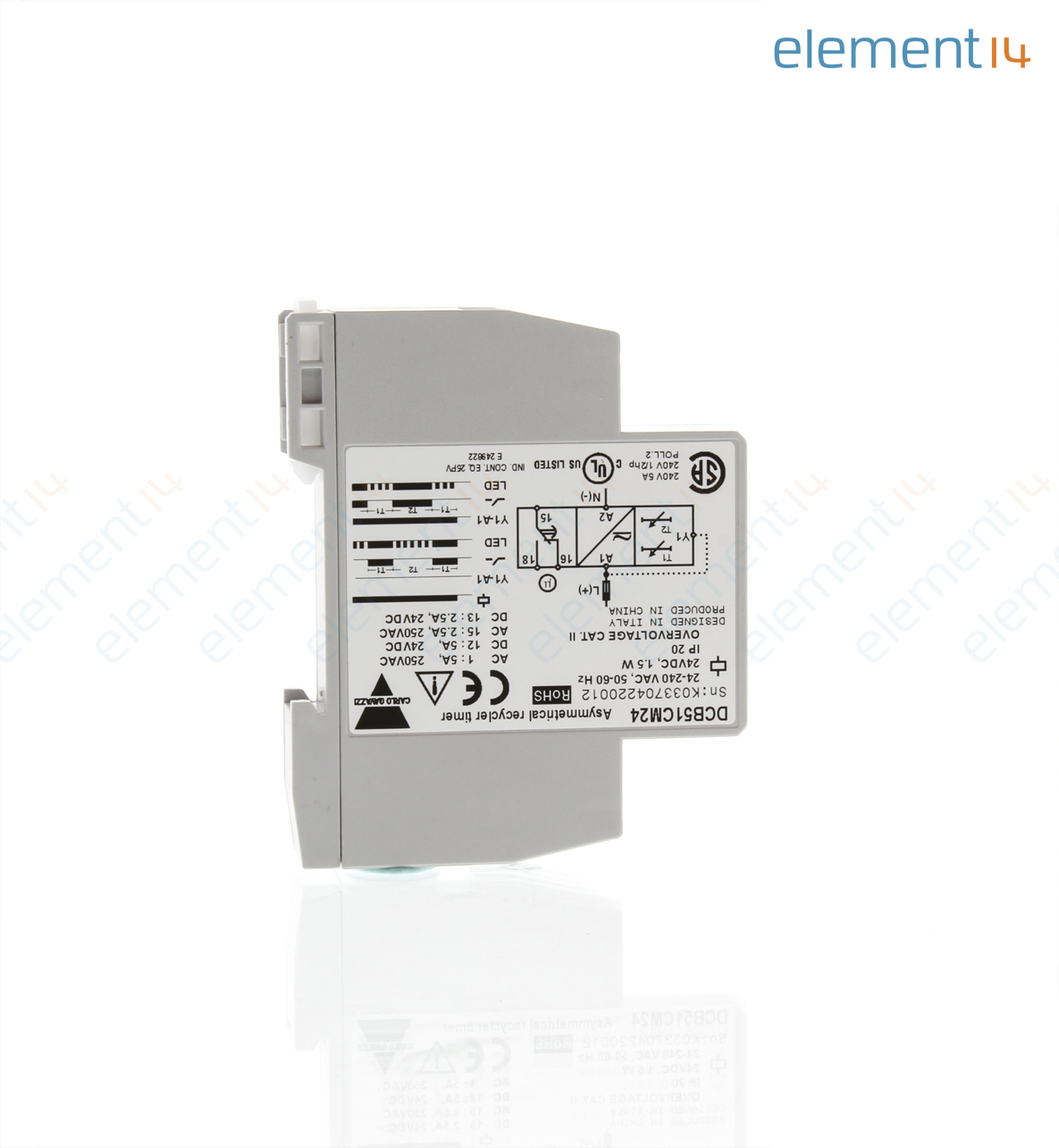 Dcb51cm24 Carlo Gavazzi Analog Timer Dcb51 Series Asymmetrical Home Circuit Protection Timers Analogue Digital Battery Back Up Recycling 01 S 100 H 7 Ranges 1 Changeover Relay