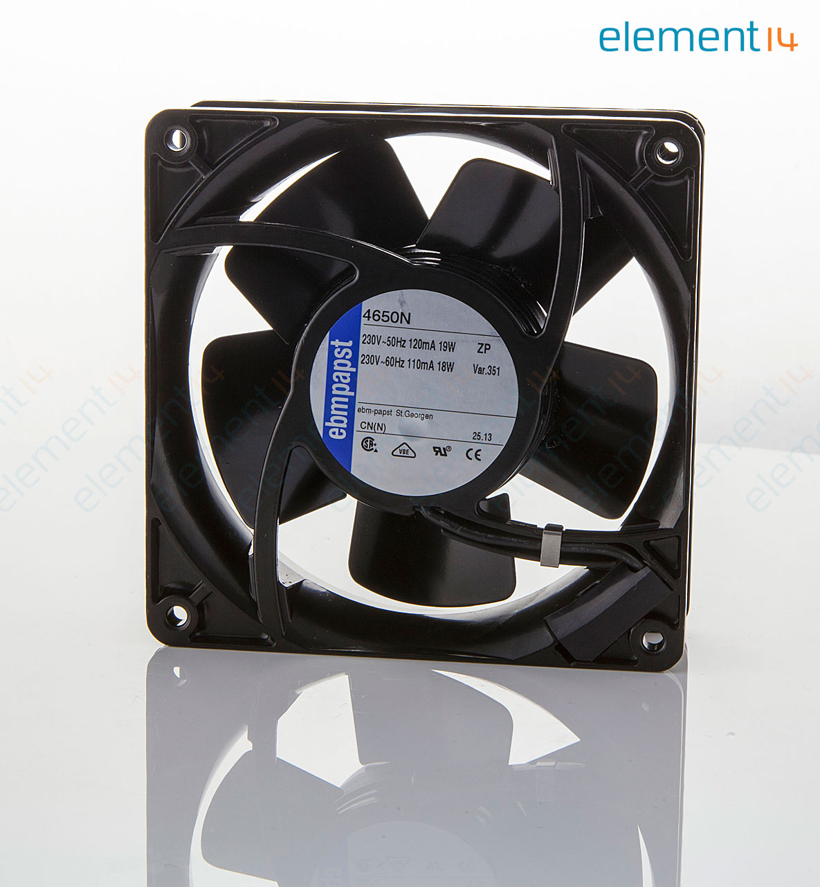 EBM 4650N FAN big 01 4650n ebm papst, axial fan, 4000n series, ip20, 230 v, ac, 119 mm ebm papst motor wiring diagram at webbmarketing.co