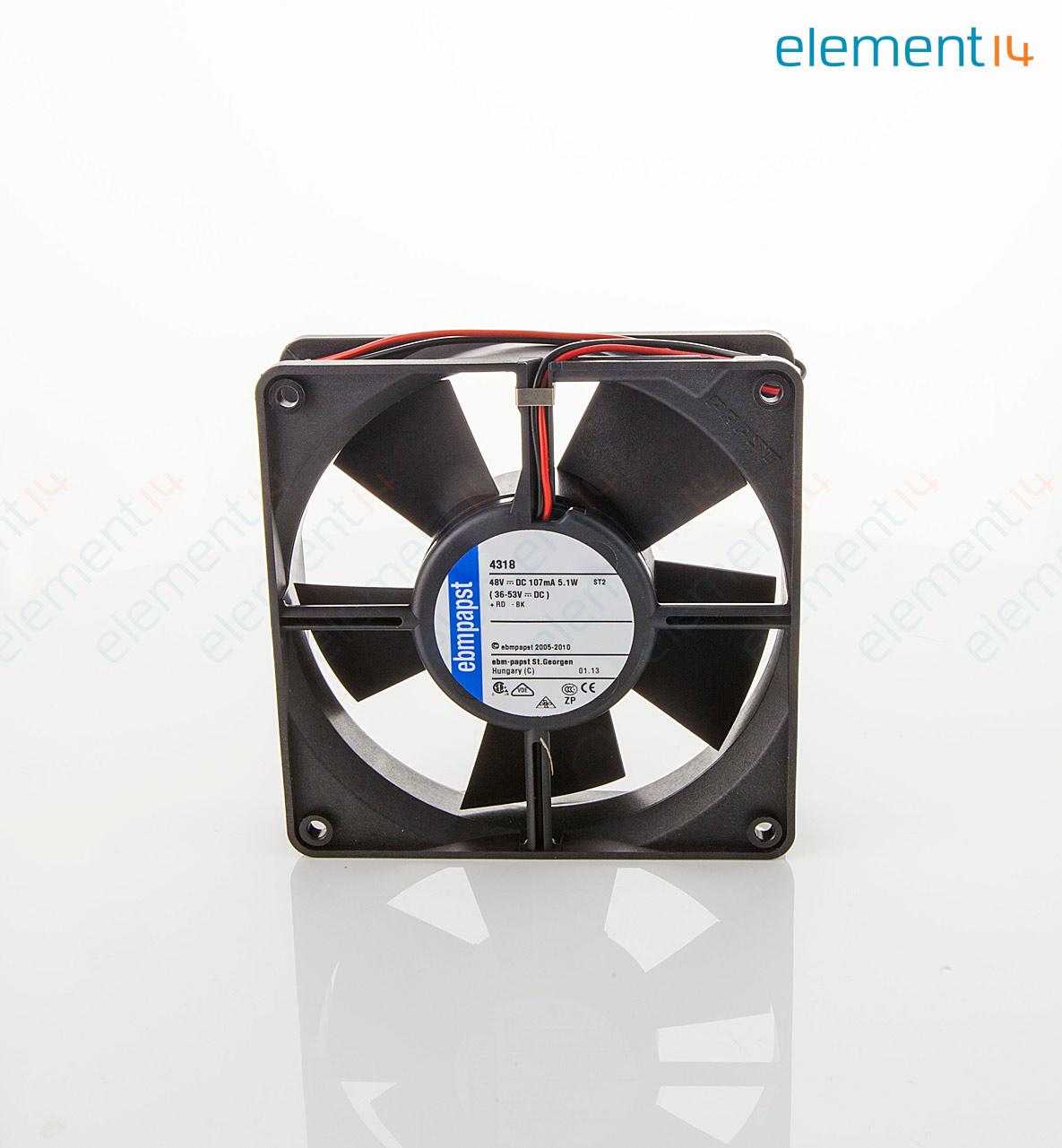 4318 EBM PAPST Axial Fan 4300 Series IP20 48 V DC