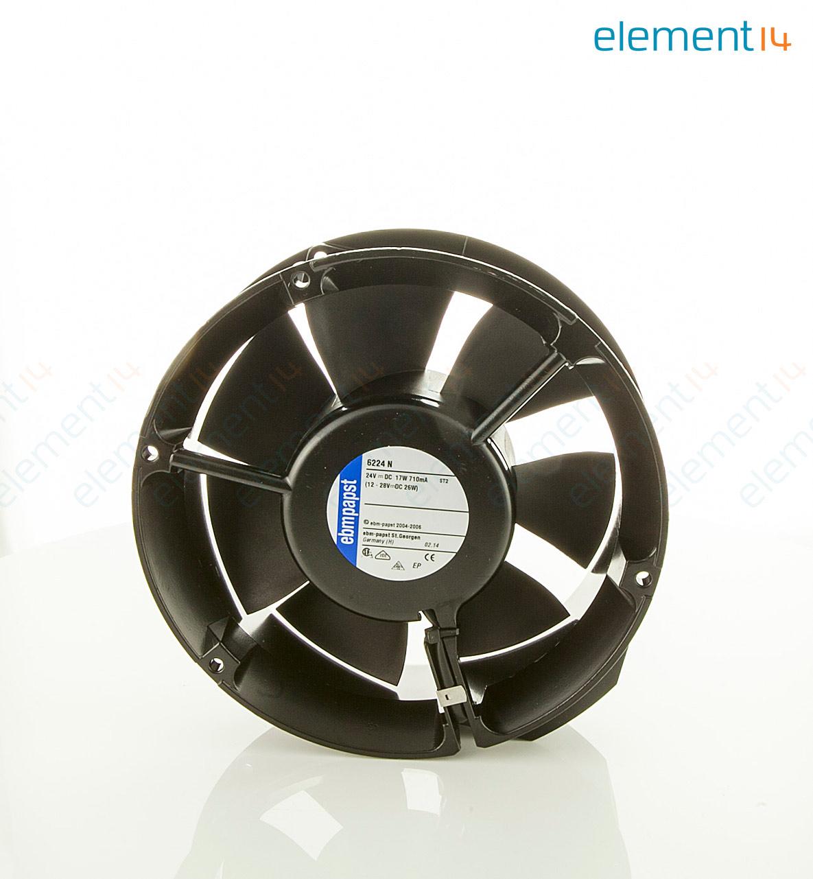EBMPAPST 6224N FAN big 01 6224n ebm papst, axial fan, 6200n series, 24 v, dc, 172 mm, 51 mm ebm papst fan wiring diagram at alyssarenee.co