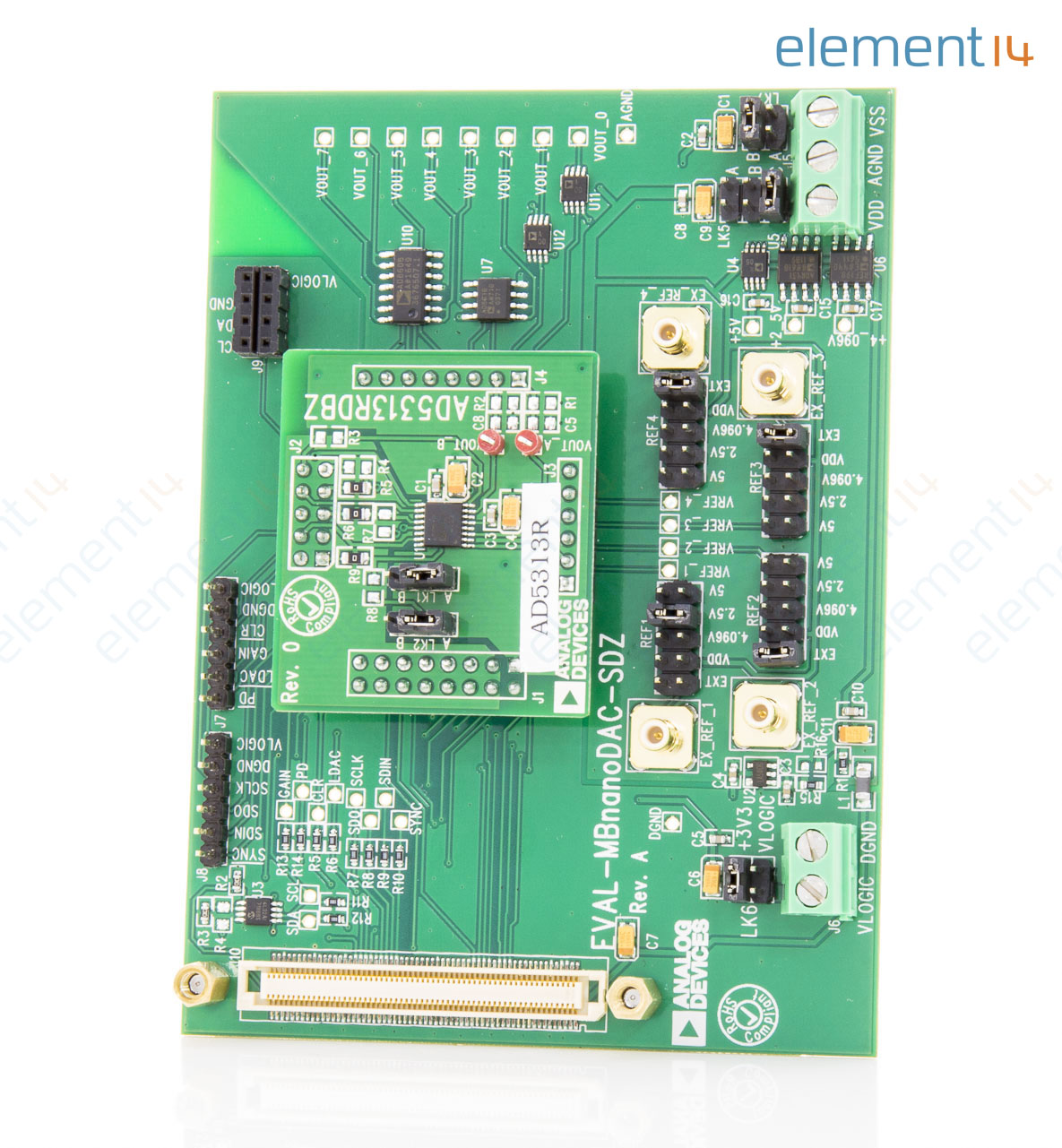 Eval Ad5313rdbz Analog Devices Evaluation Board Ad5313r 10 Bit Ad Converter Circuit Adconverter Addaconvertercircuit Add To Compare