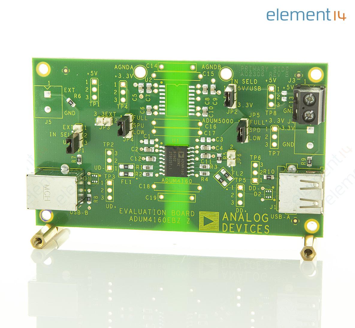 evaluation board for icoupler adum4160/adum3160 usb digital