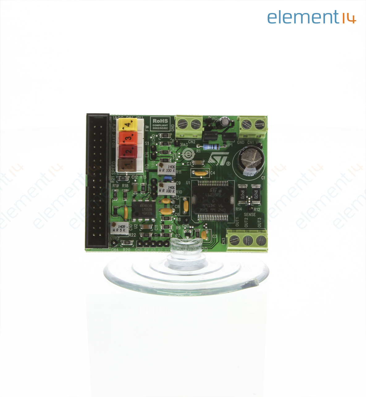 Eval6235pd Stmicroelectronics Demonstration Board Bldc Motor Brushless Electric Diagram A Threephase Dc With Driver 3 Phase L6235 Power Management 360 Add To Compare