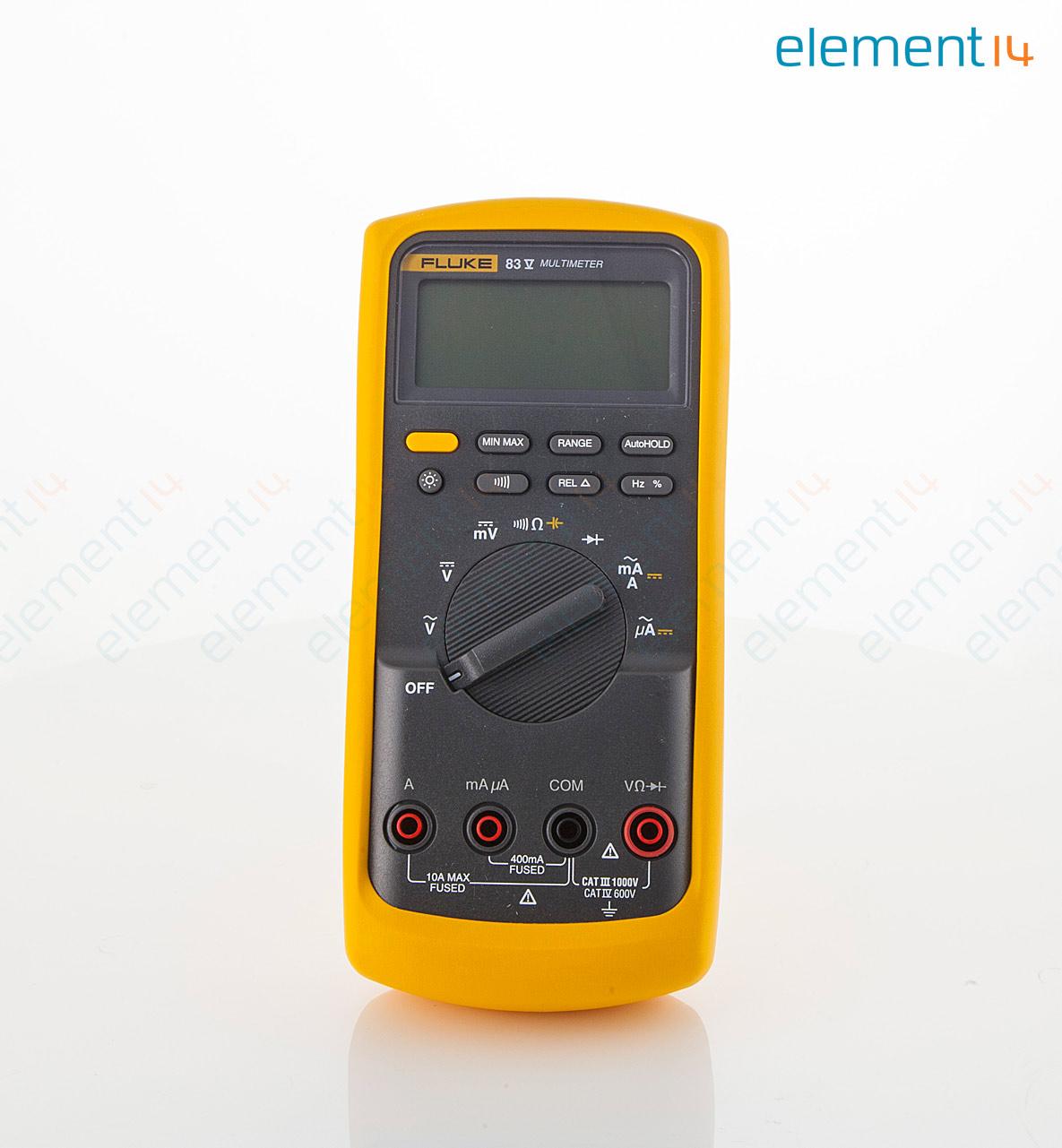 fluke 83 v eur fluke industrial digital multimeter 80 series v rh uk farnell com Fluke 50s K J Thermometer Fluke 179 True RMS Multimeter