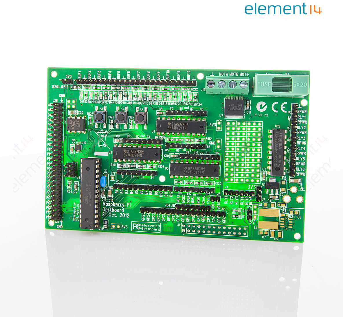 Gertboard Daughter Board Gpio Expansion For Circuit We Assemble With The Exception Of Rohscompliant Boards Raspberry Pi A D Converters Motor Controller