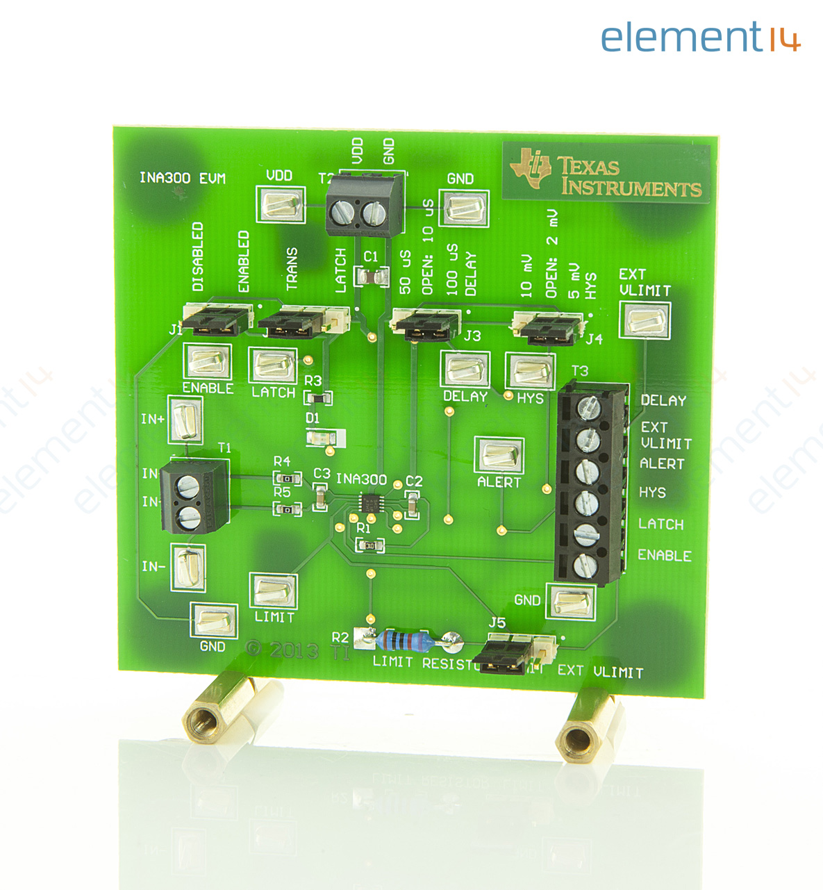 Ina300evm Texas Instruments Evaluation Board High Or Low Side Current Detector Circuit Over