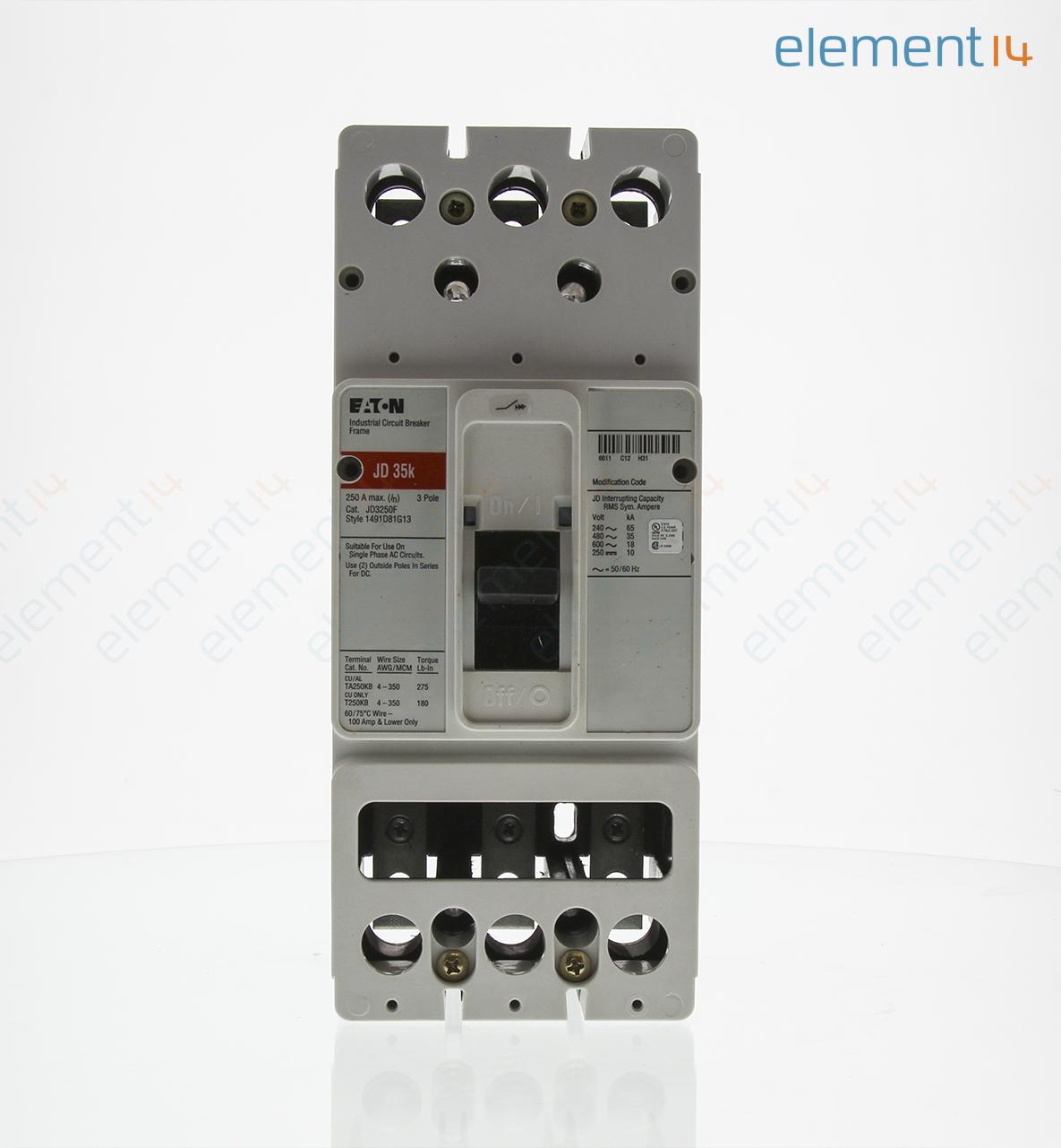 JD3250F EATON CUTLER HAMMER, Circuit Breaker Accessory, Frame, 3 Pole