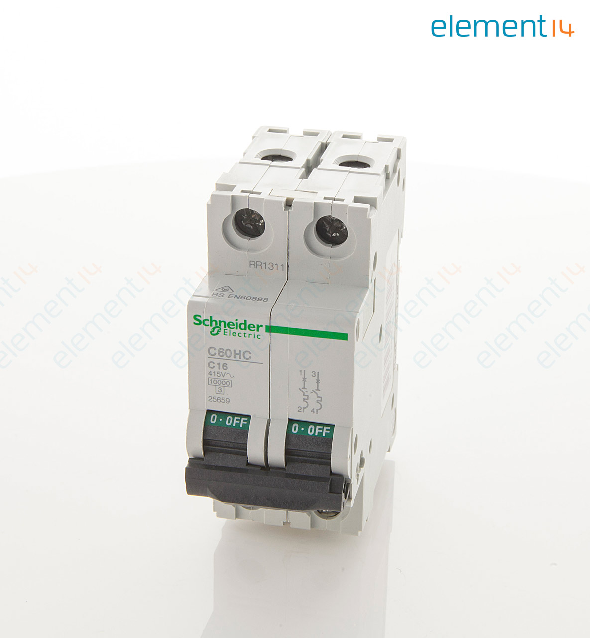 C60hc216 Merlin Gerin Thermal Magnetic Circuit Breaker 16 A 2 Pole Breakers Some Use 415 Vac Din Rail