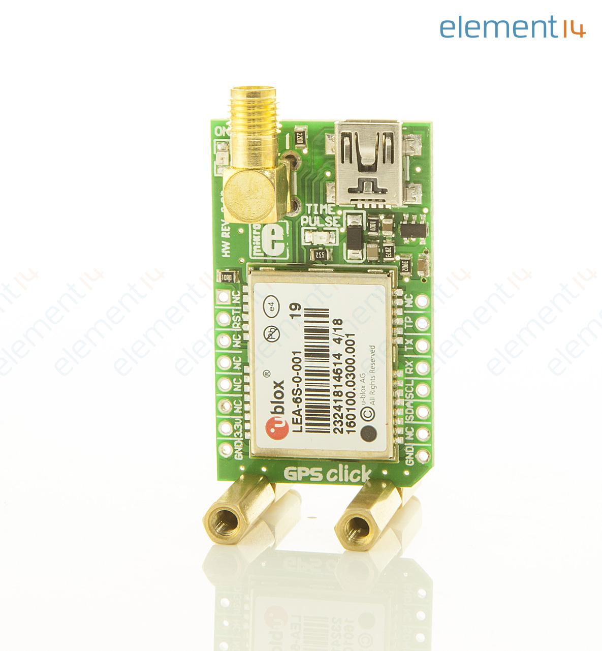 Daughter Board, GPS 2 Click, Quectel L30 GPS Module, SMA Antenna Connector,  mikroBus Form Factor