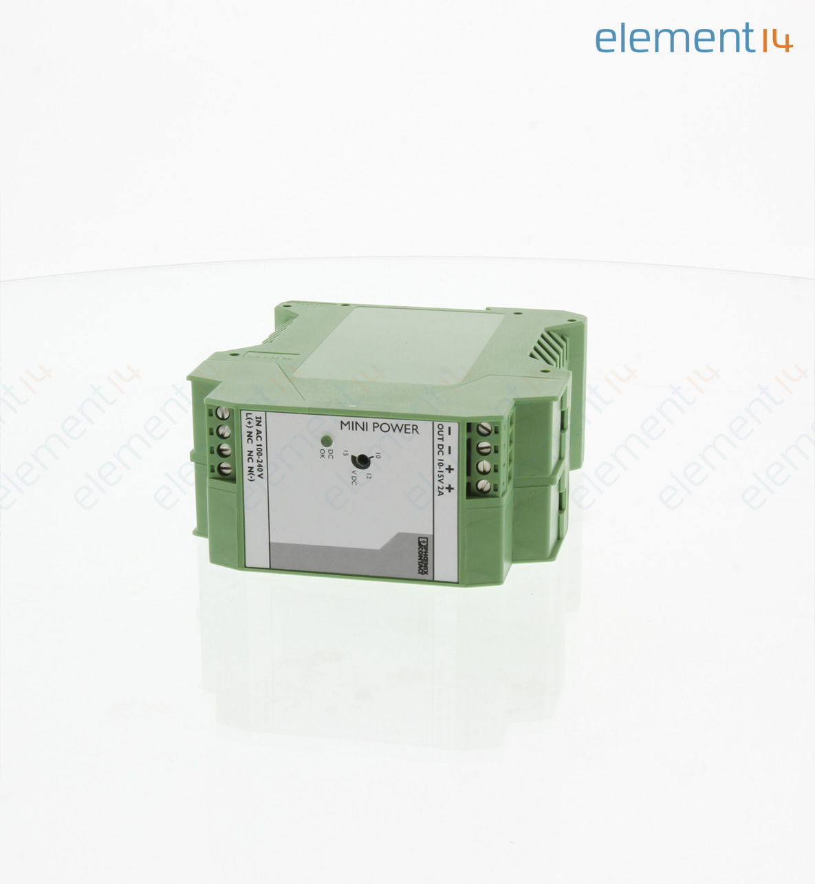 Mini Ps 100 240ac 10 15dc 2 Phoenix Contact Ac Dc Din Rail Power Innovative Circuit Ict120126a Comm Series 120vac 12vdc 6 Amp Add To Compare