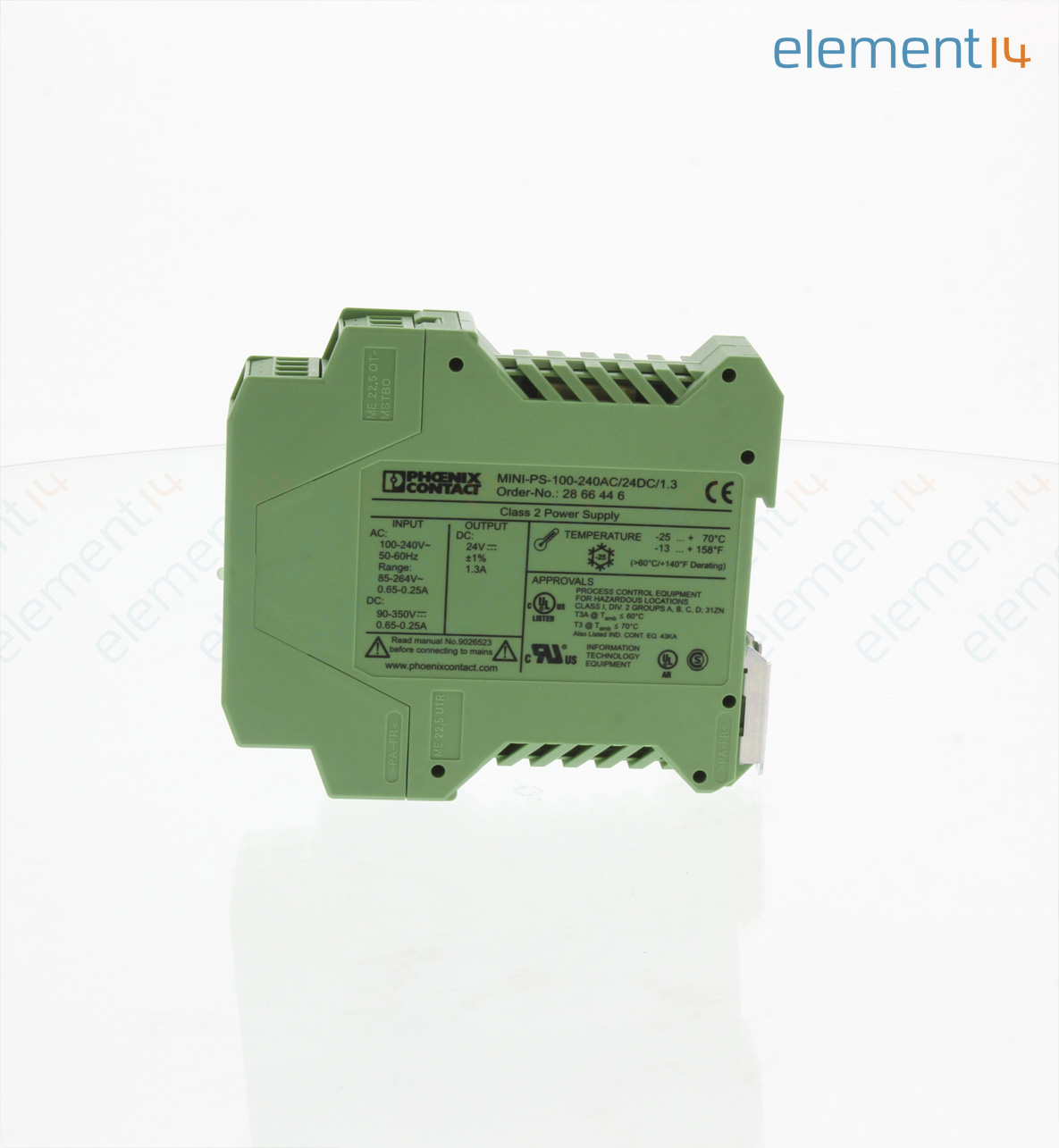 Mini Ps 100 240ac 24dc 13 Phoenix Contact Ac Dc Din Rail Power Circuit It Can Uses With Supply Source 24vdc And Adjust Voltage Add To Compare