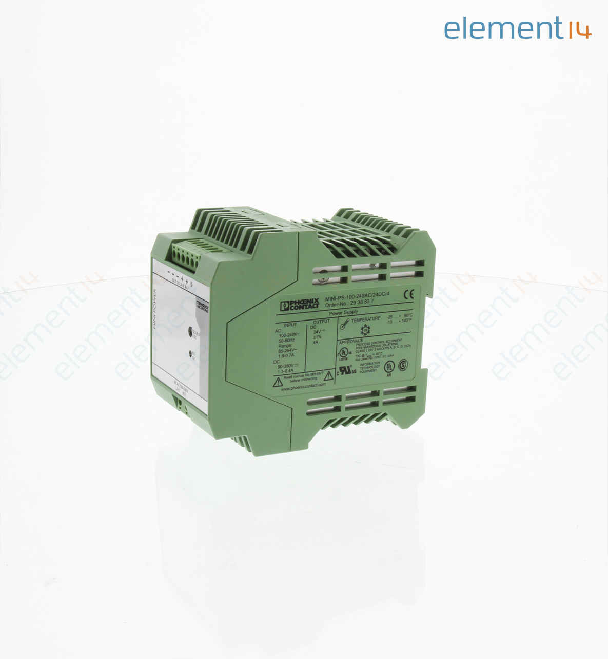 Mini Ps 100 240ac 24dc 4 Phoenix Contact Ac Dc Din Rail Power Electronics Learning Circuits Webonly Products Technology Add To Compare