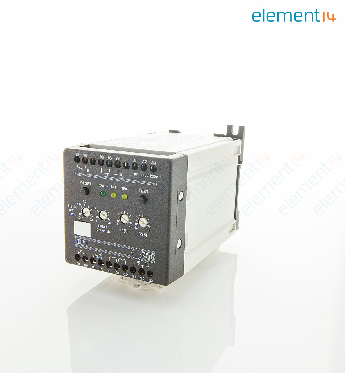 Dmpr230s000 Mte Motor Protection Relay Electronic Dmpr Series High Low Voltage Cutoff With Delay Alarm Circuits 115 230 Vac 5 A 240 V