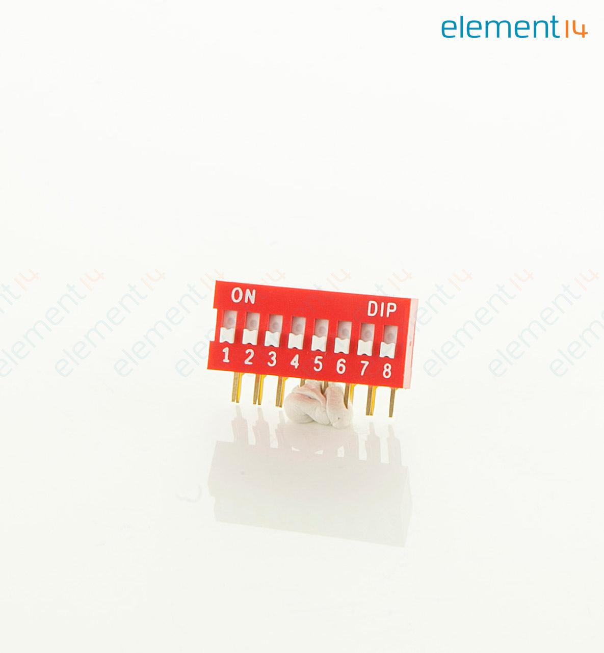 MCDA08 DIP-/SIP-Schalter 8 Schaltkreise SPST Durchsteckmontage ...