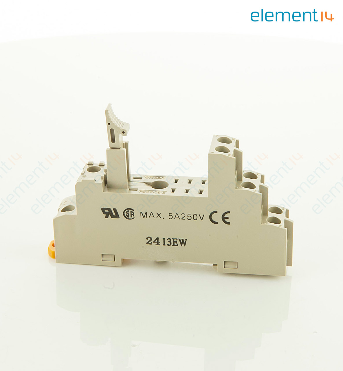 P2rf 08 E Omron Industrial Automation Relay Socket Din Rail Screw Current 8 Pins 5 A 250 Vac