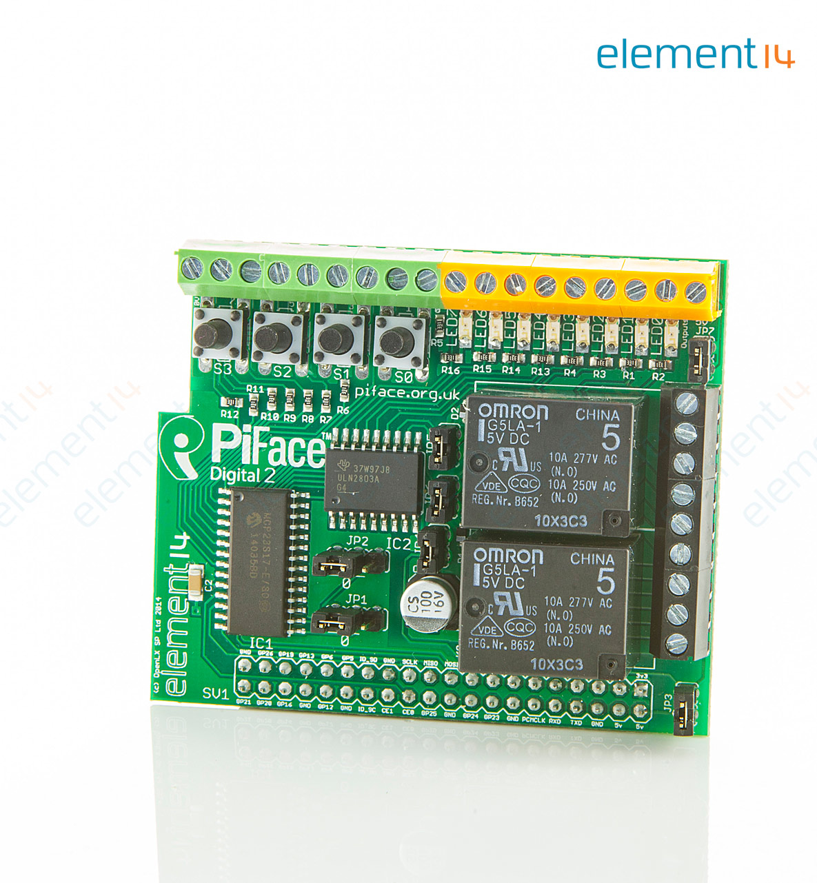 Piface Board Schematic Modmypi Pirack Circuit Rack Expansion Buy Accessory For Raspberry Pi Connect Up To 4 Additional Boards At Element14