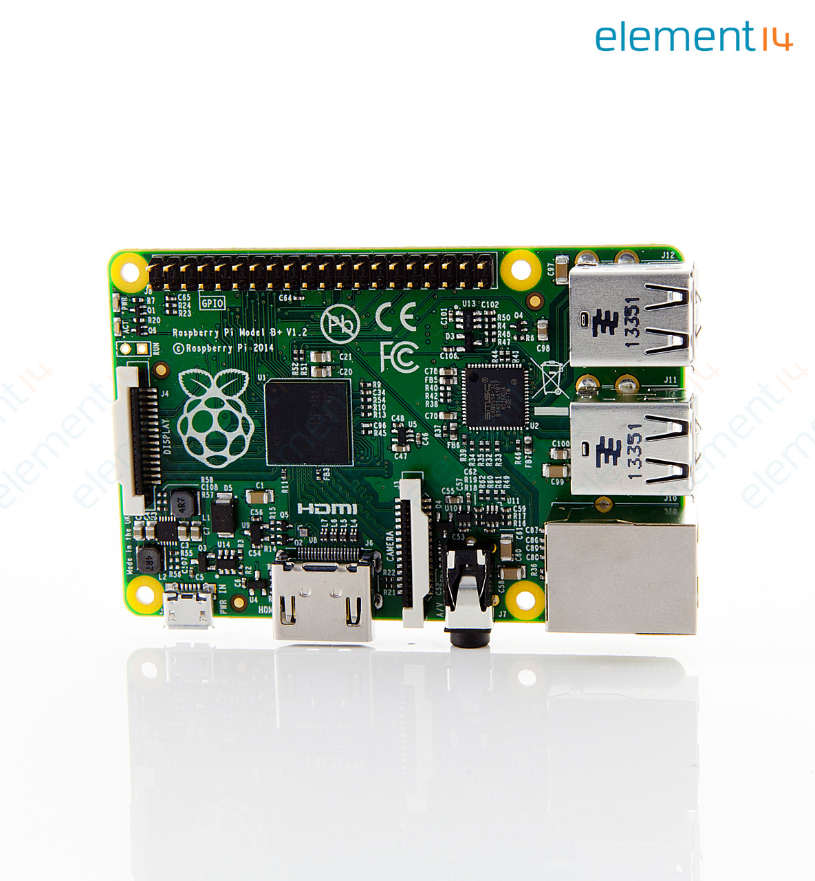Single Board Computer, Raspberry Pi Model B+, BCM2835 CPU, Plugs Into TV  and Keyboard, 512MB SDRAM