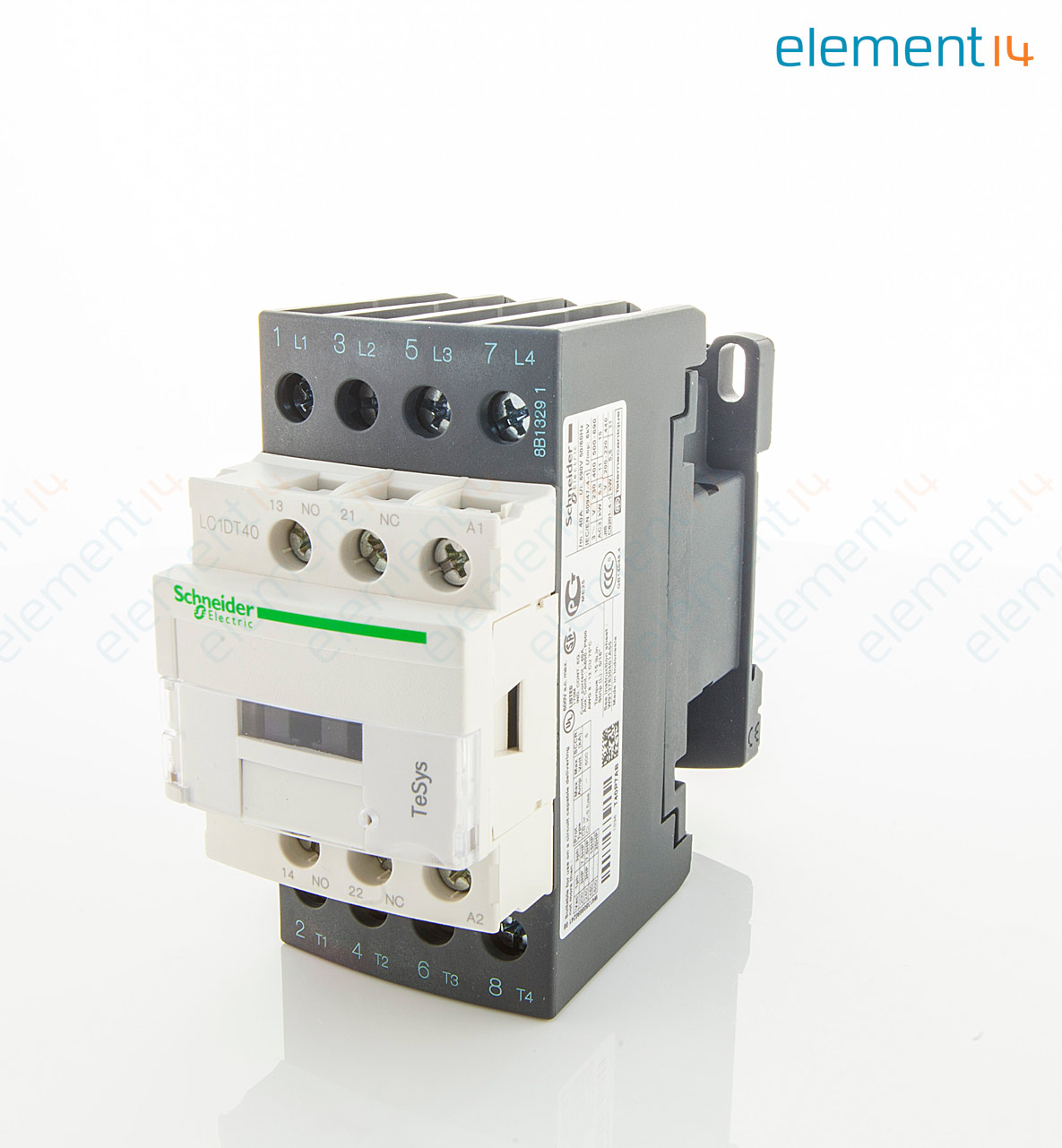 Lc1dt40p7 Schneider Electric Contactor Tesys D Din Rail Under Current Relay 230 Vac 4pno 4 Pole