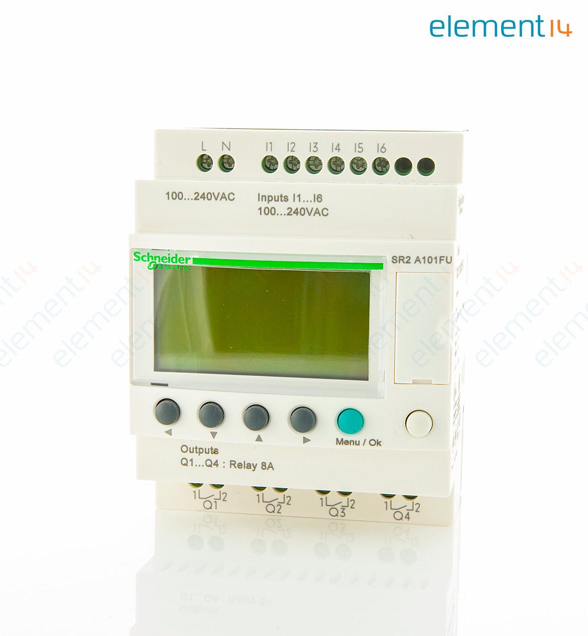 Sr2a101fu Schneider Electric Smart Relay Zelio Logic Series 6 Plc Wiring Diagram Add To Compare