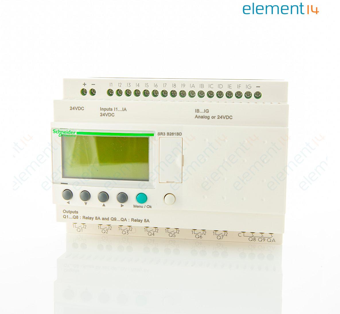 Sr3b261bd modular smart relay zelio logic 26 i o 24 v dc.