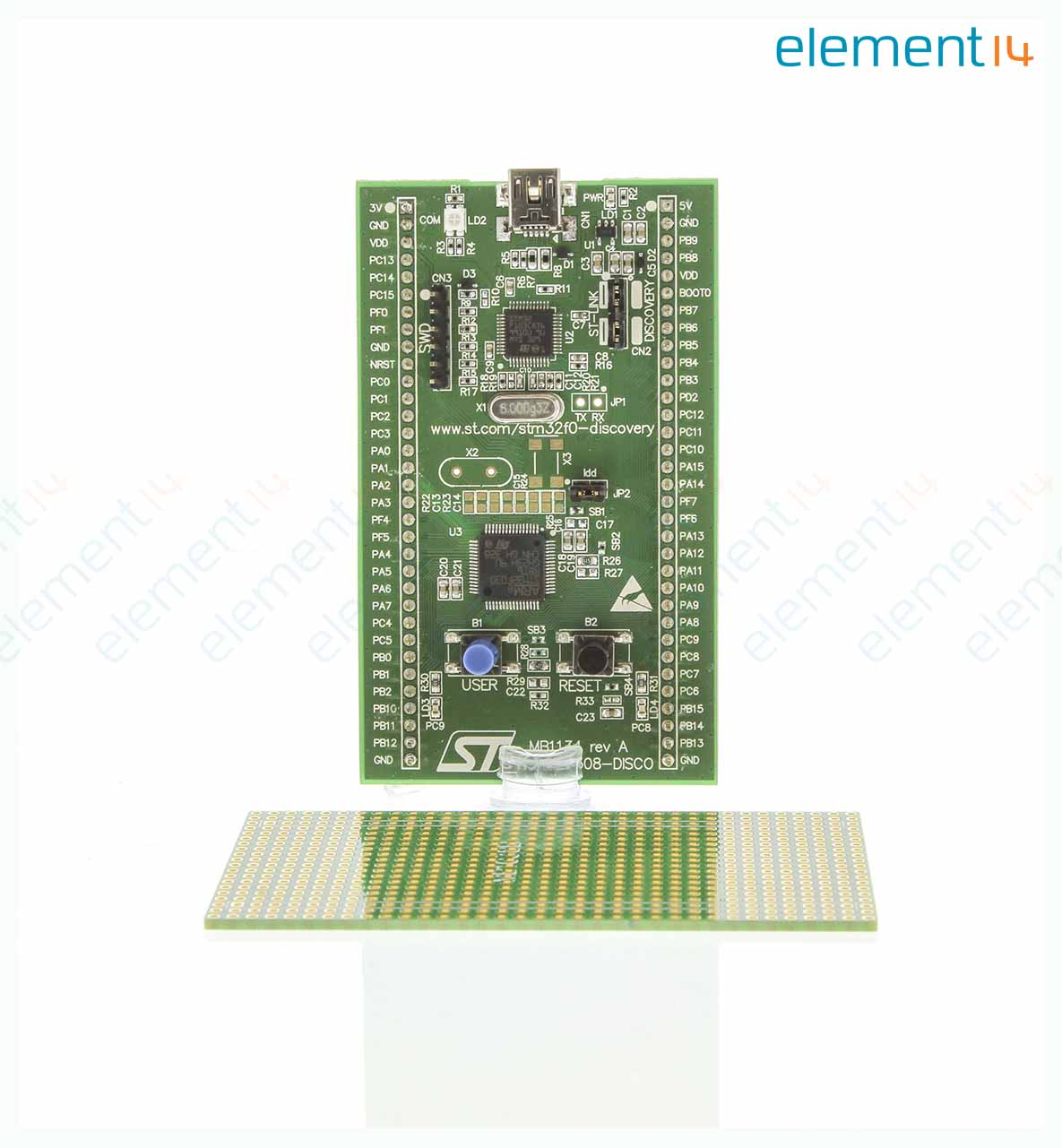 Stm32f0308 Disco Stmicroelectronics Evaluation Board Stm32f030r8 Electronics Learning Circuits Webonly Products Technology Add To Compare