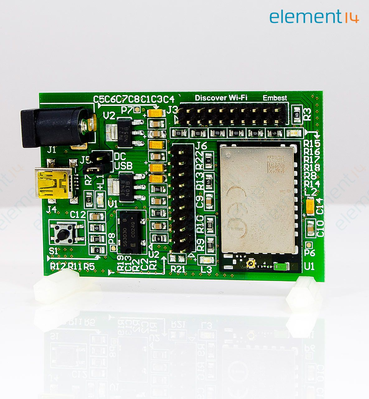Expansion Board, WiFi Expansion, Connects to STM32F4 Discovery, Serial Host  Interface (UART or SPI)