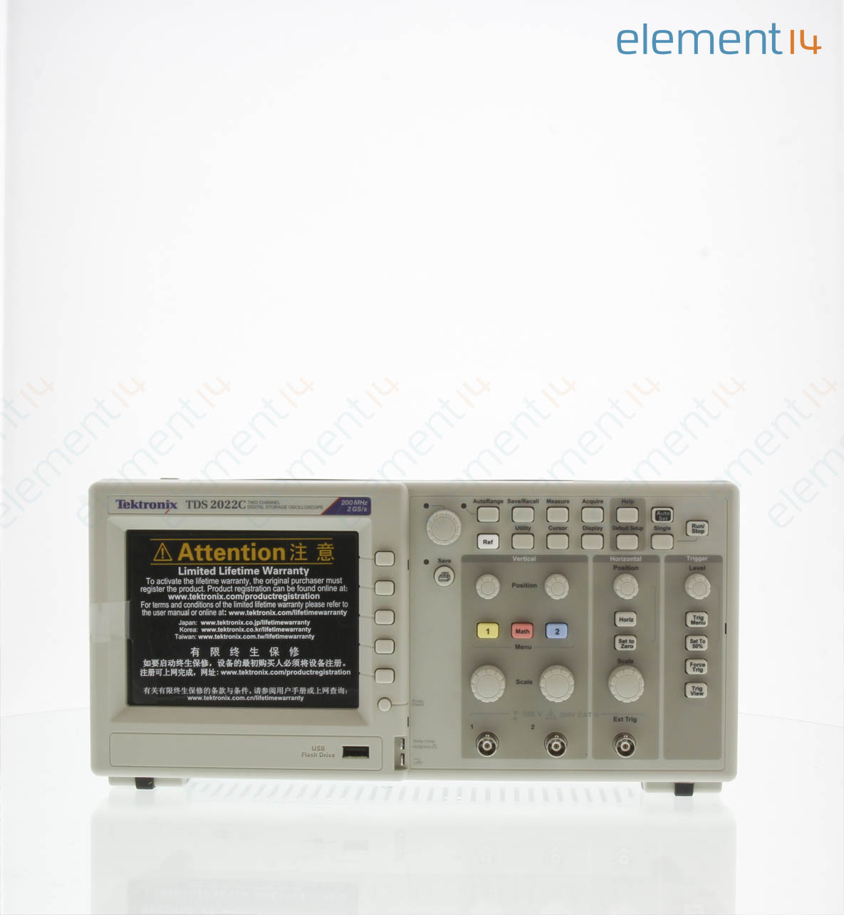 TDS2022C - TEKTRONIX - Oscilloscope, TDS2000C Series, 2 Analogue ...