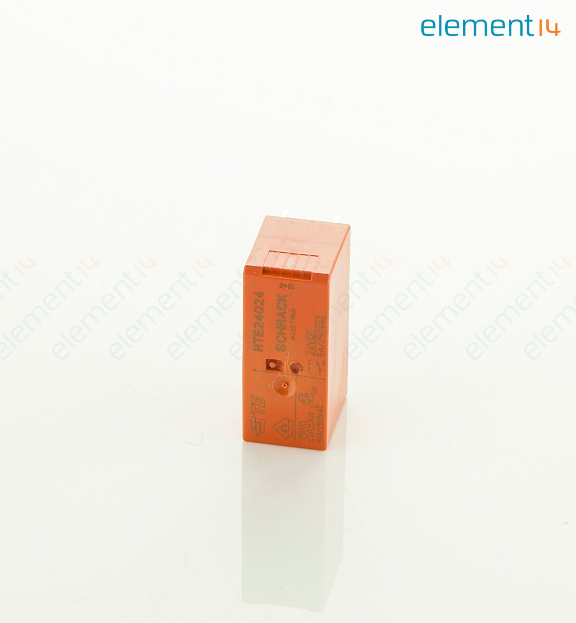 Rte24024 Schrack Te Connectivity General Purpose Relay Rt2 Electrical Selection Series 8 A 24 Vdc Power Non Latching Dpdt