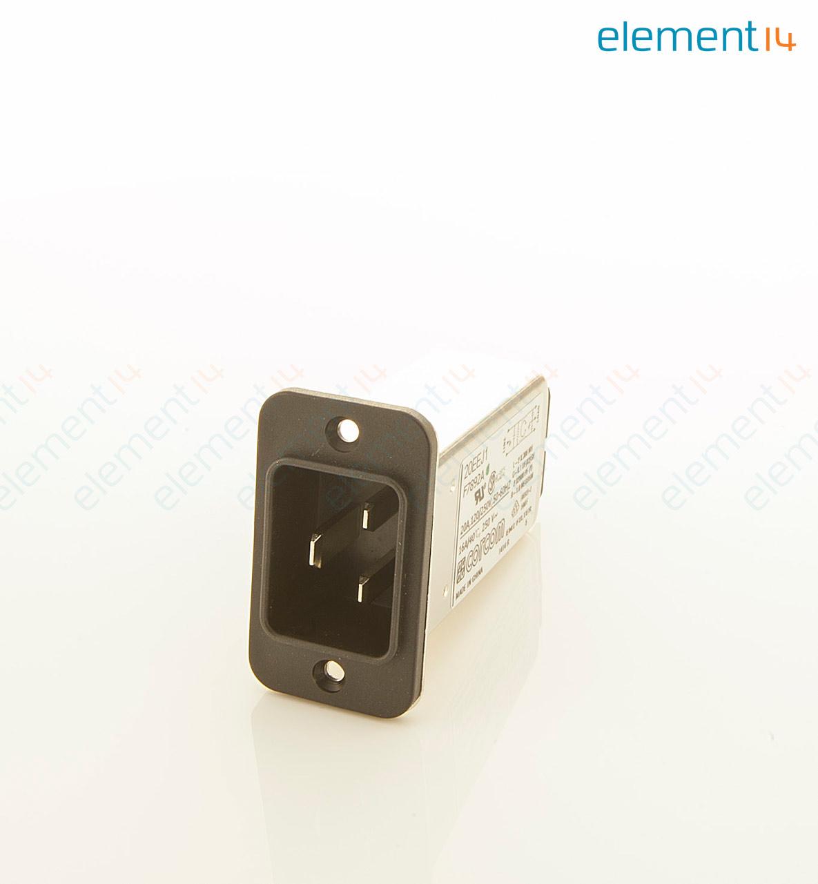 EMI New TE CONNECTIVITY  20EEJ1 IEC  Filter 250 VAC 20A 6609007-3 RFI
