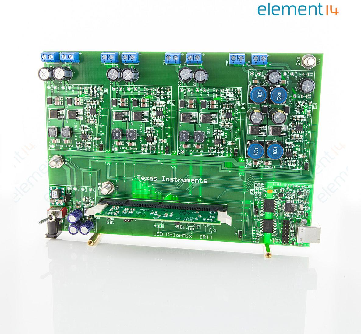 Tmdsrgbledkit Texas Instruments Development Kit Tms320f28027 Led Tri Color Circuit Controller Driver Multi Dc Colour Pwm Dimming 1 Output