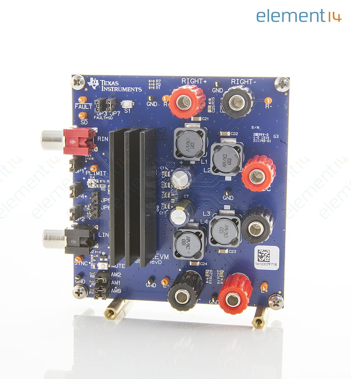 Tpa3116d2evm Texas Instruments Evaluation Module Tpa3116d2 50w Classd Amplifier Circuit Simulator Class D Stereo Audio Power