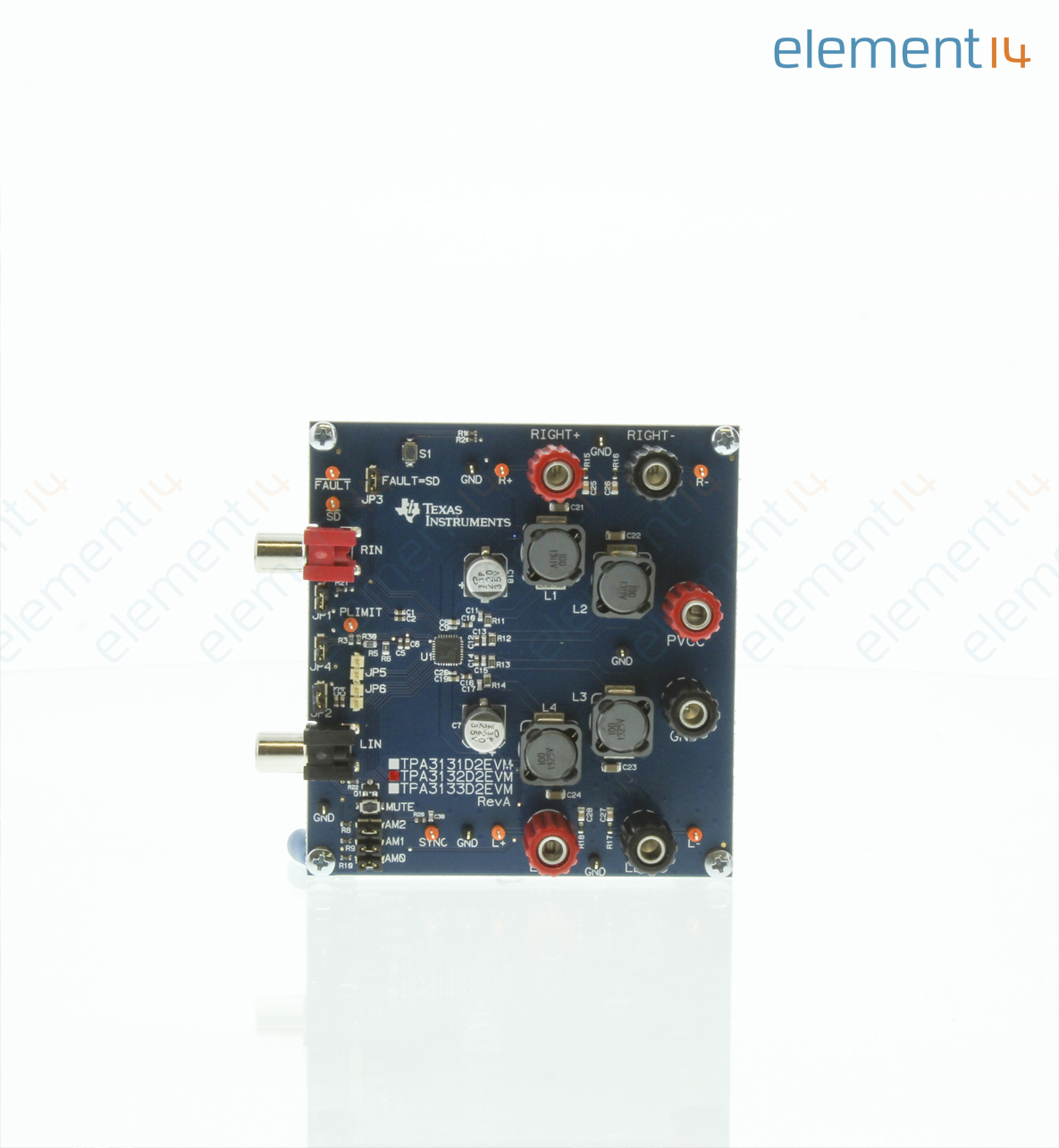 Tpa3132d2evm Texas Instruments Evaluation Module Tpa3132d2 25w Audio Amplifier Circuit Filter Free Class D Stereo And Mono Modes