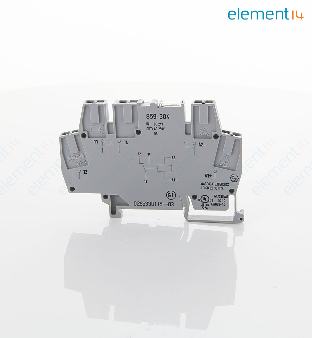 859 304 Wago Din Rail Mount Terminal Block With Switching Relay 5 Switch Hs Code Add To Compare